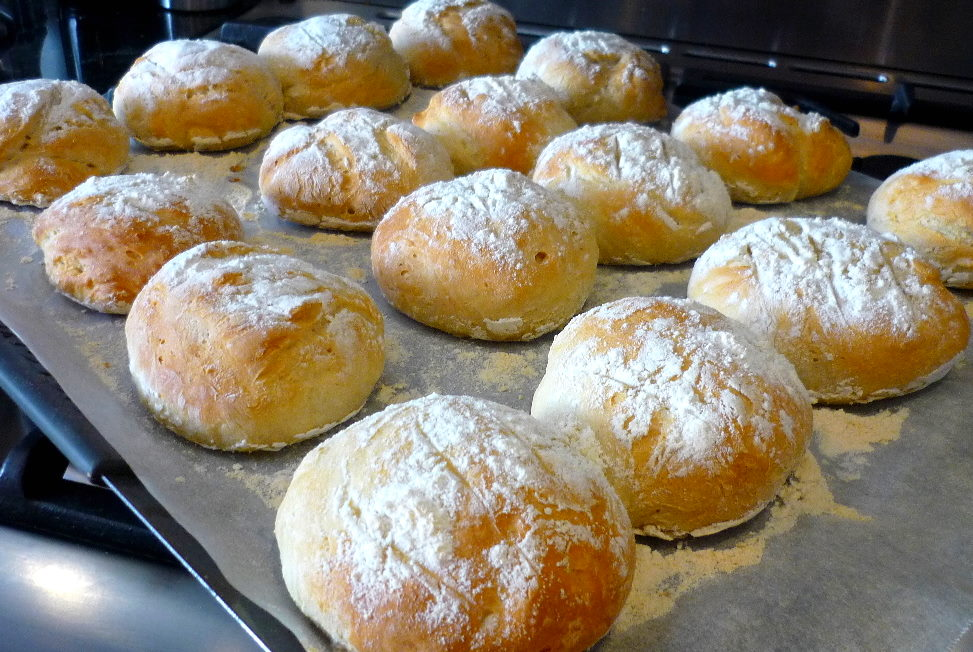 Fluffy White Dinner Rolls Hot from the oven!