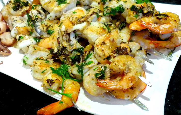 Chargrilled Seafood Skewers