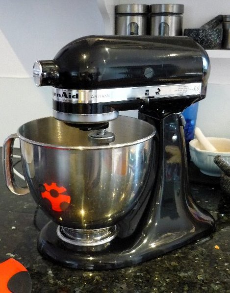 My black Artisan Kitchen Aid Mixer