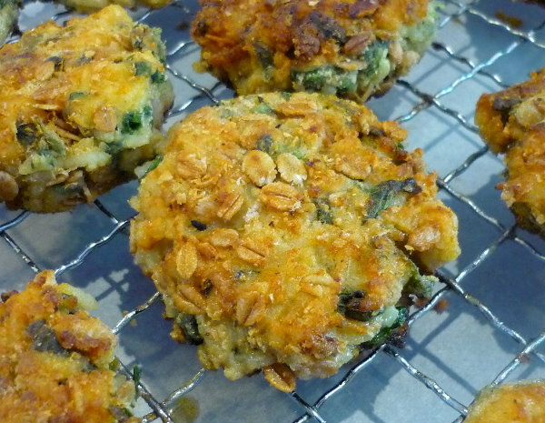 Spinach, Spelt and Saffron Fritters